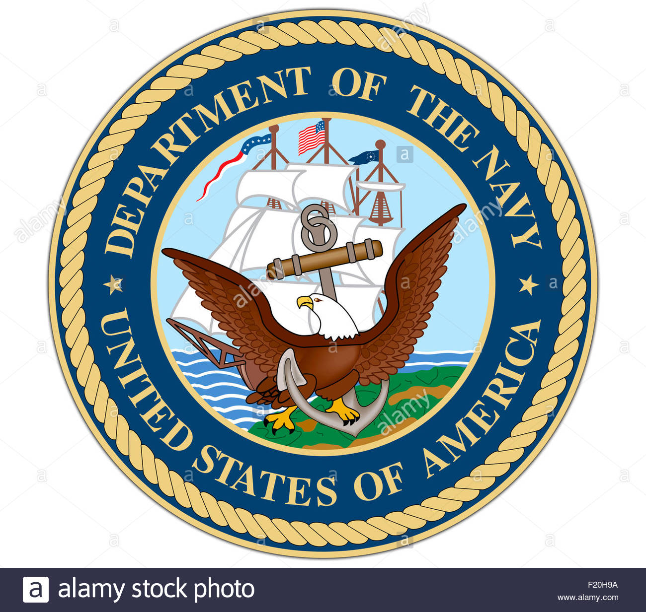 Department of the Navy DON logo icon - Stock Image
