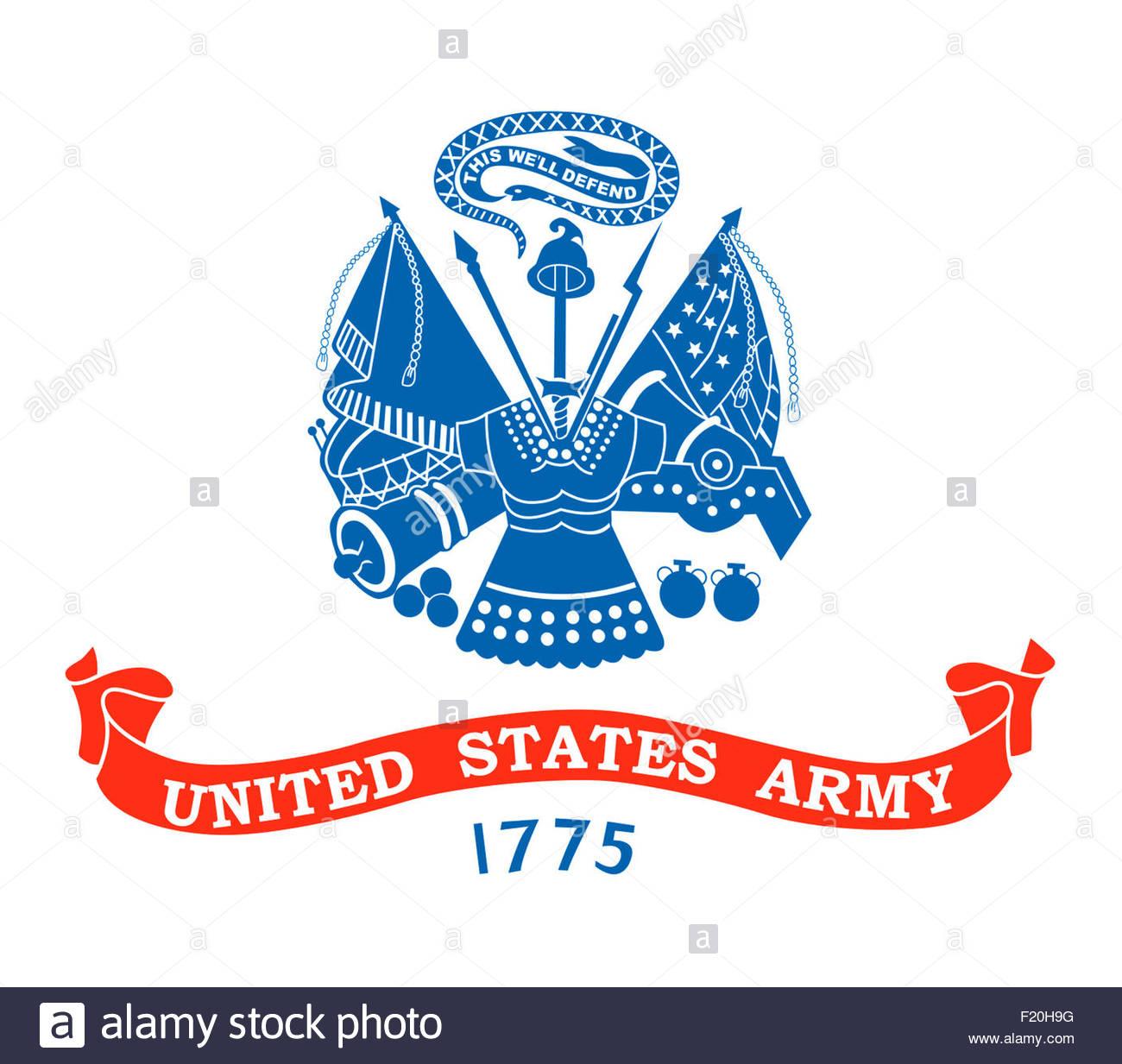 United States Army DA logo icon - Stock Image
