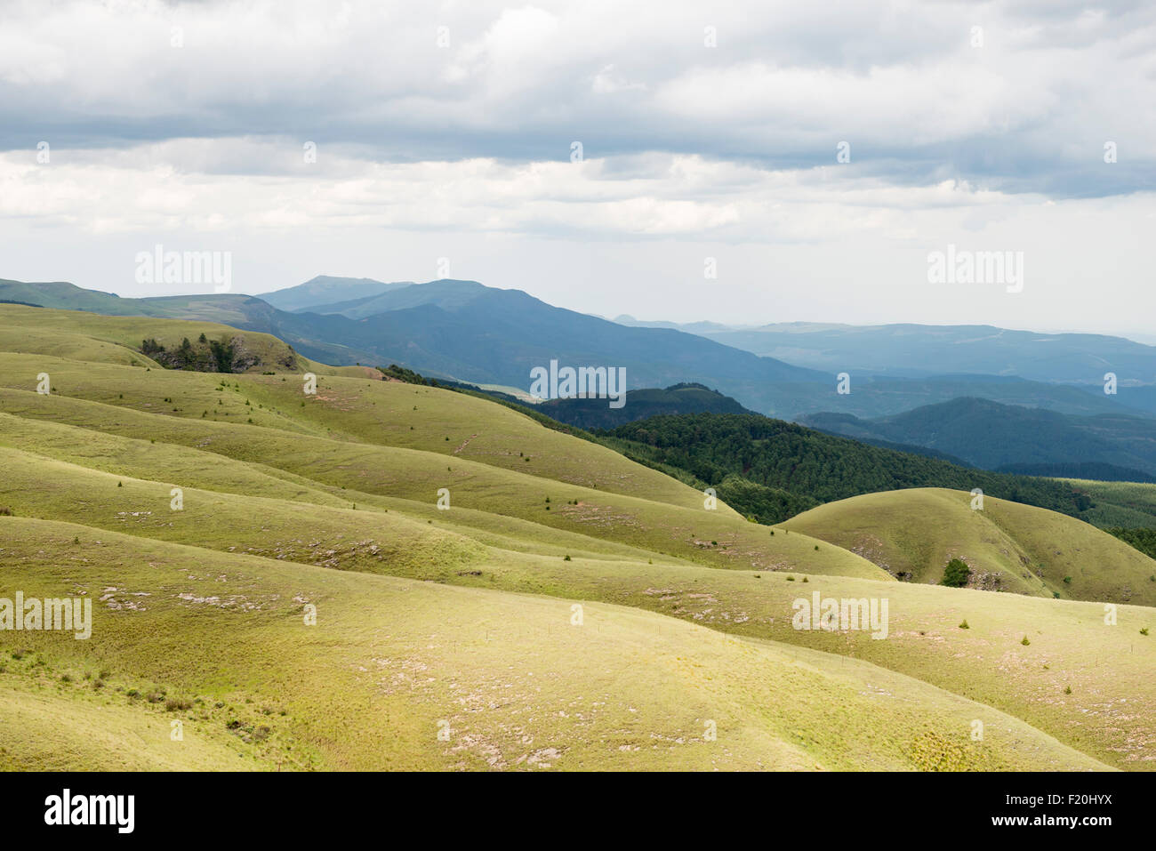 Hilly landscape in South Africa - Stock Image
