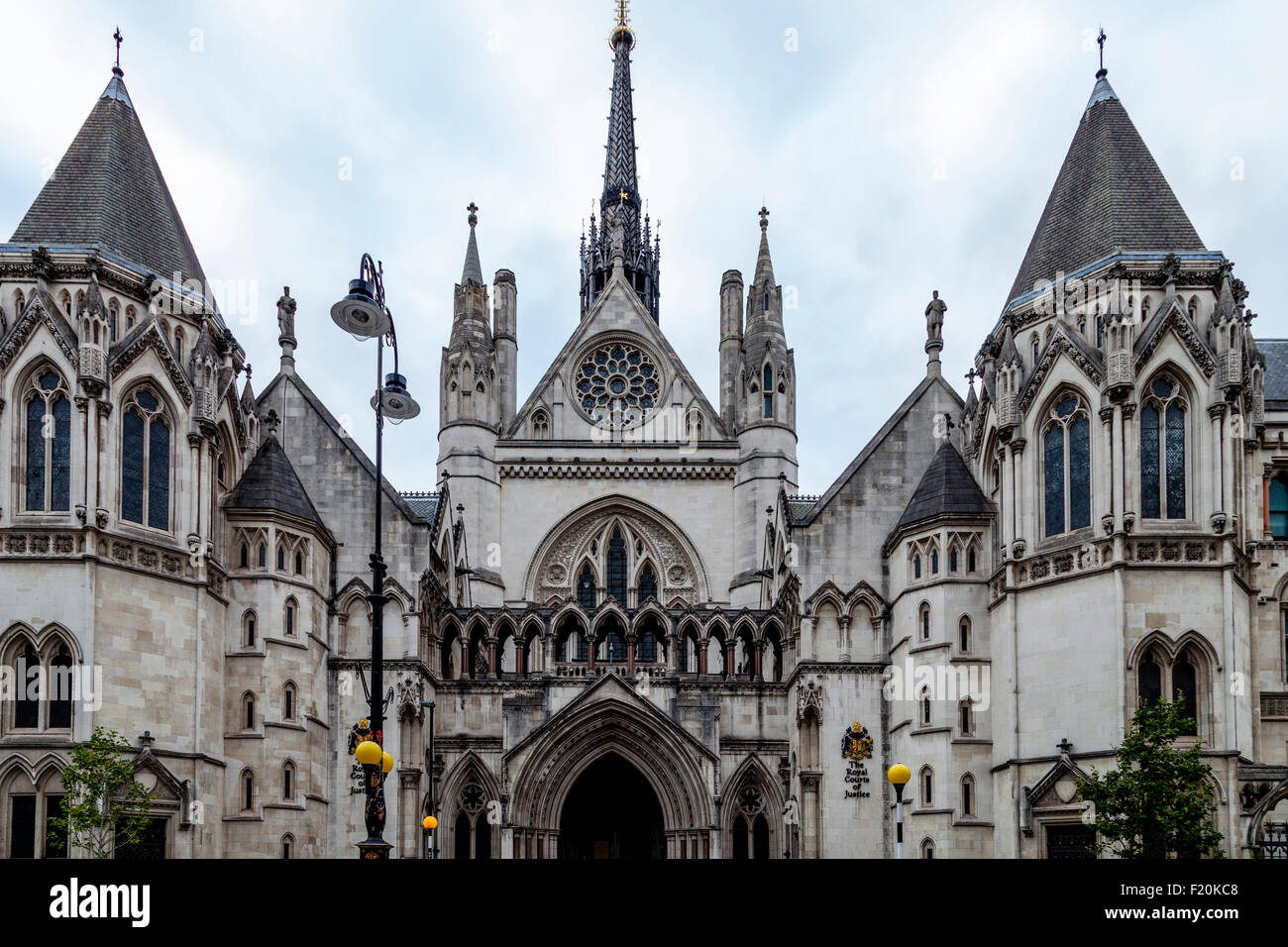 The Royal Courts Of Justice, London, England - Stock Image
