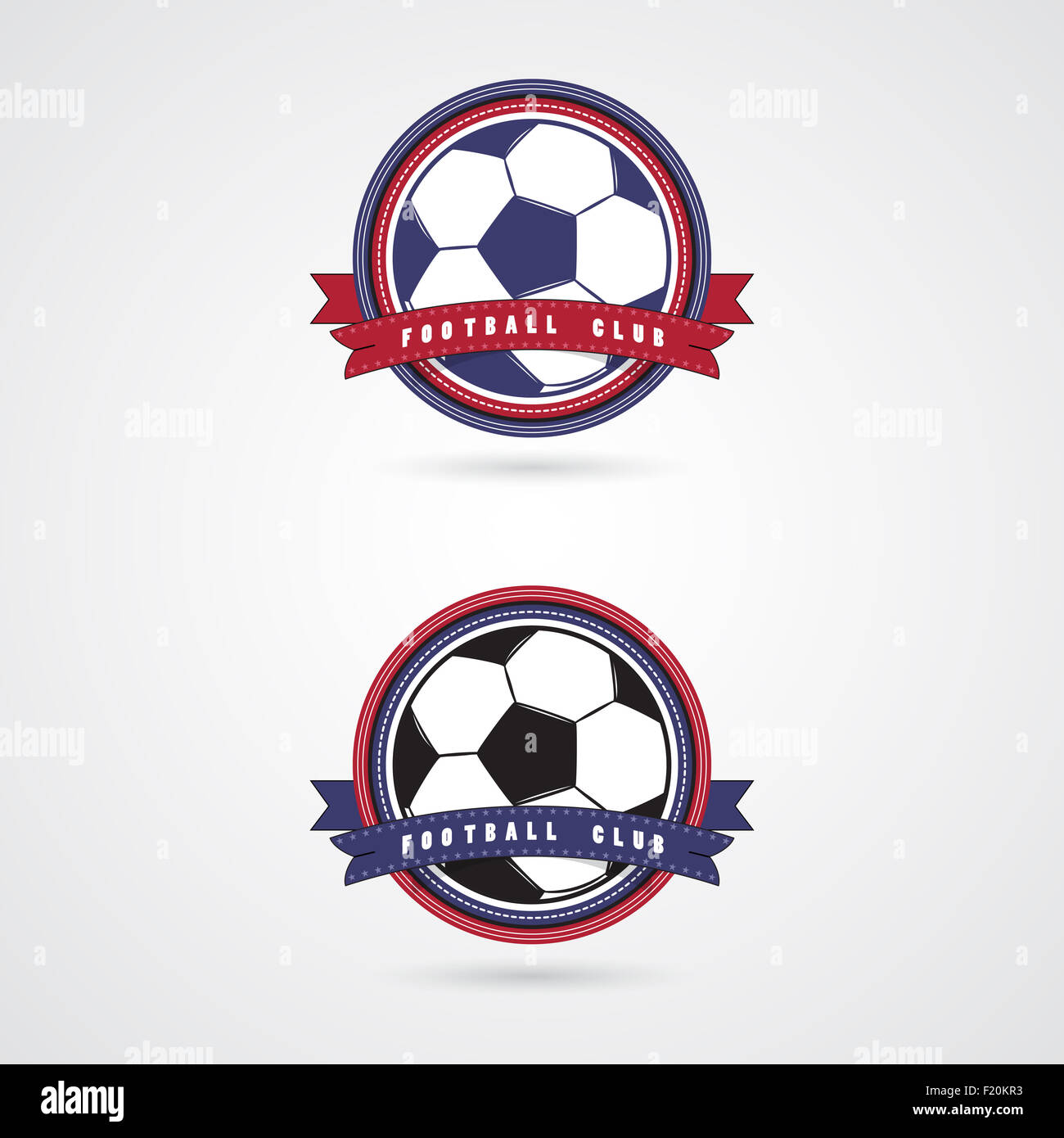 Soccer Football Badge Logo Design Templates.Sport Team Identity.Collection  Of Soccer Themed T Shirt Graphics.
