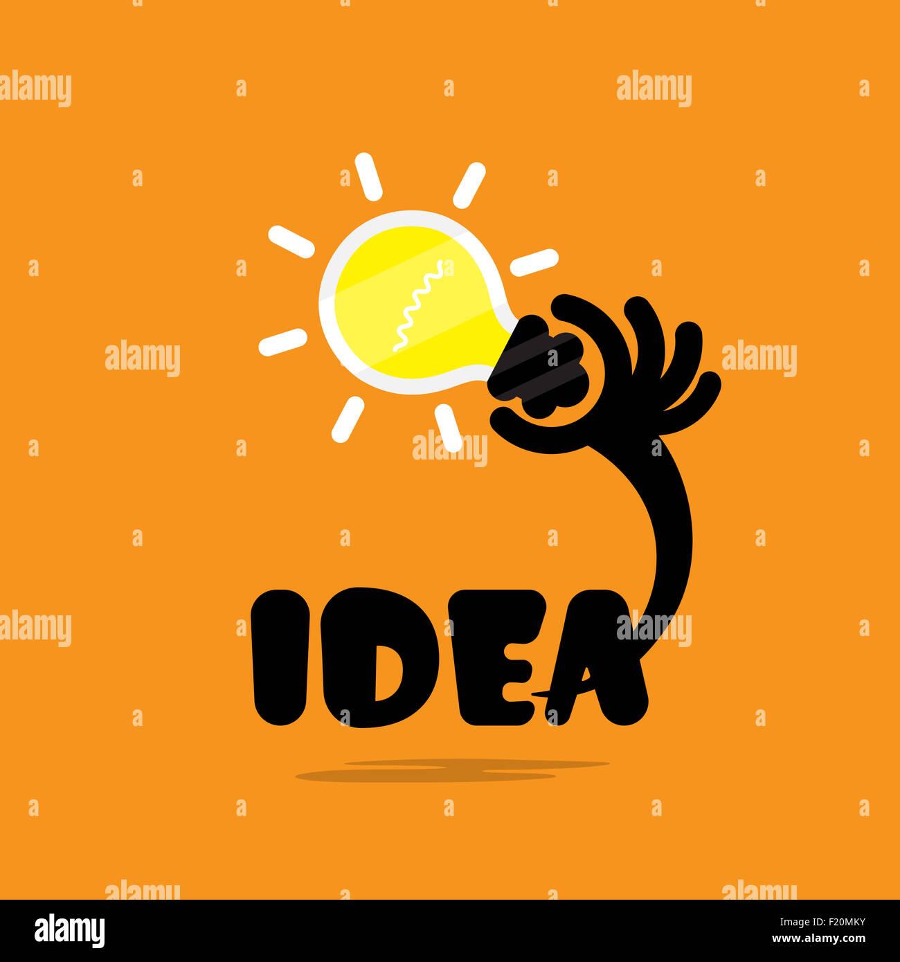 Creative Bulb Light Ideaflat DesignConcept Of Ideas Inspiration