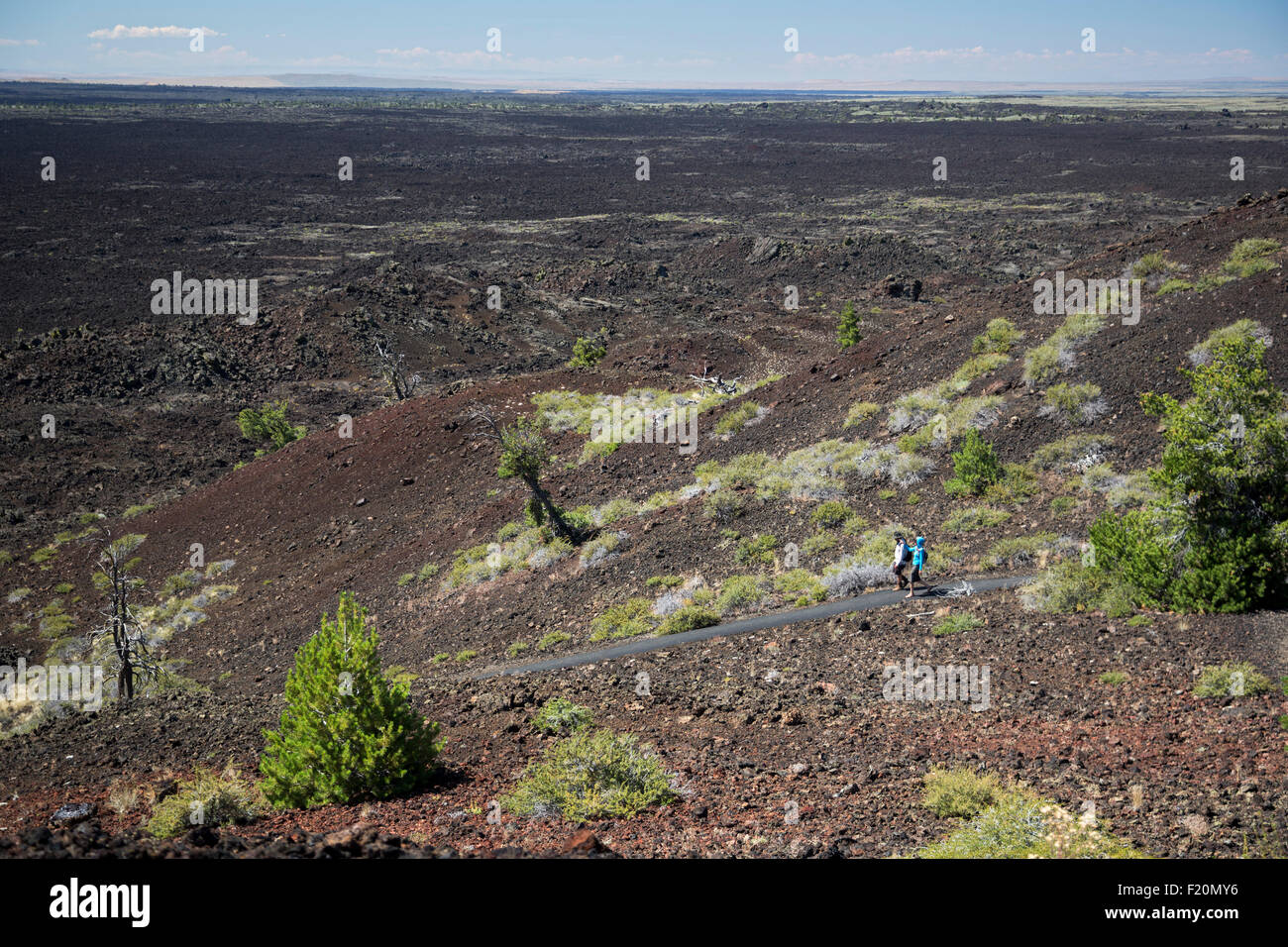 Arco, Idaho - Craters of the Moon National Monument. - Stock Image