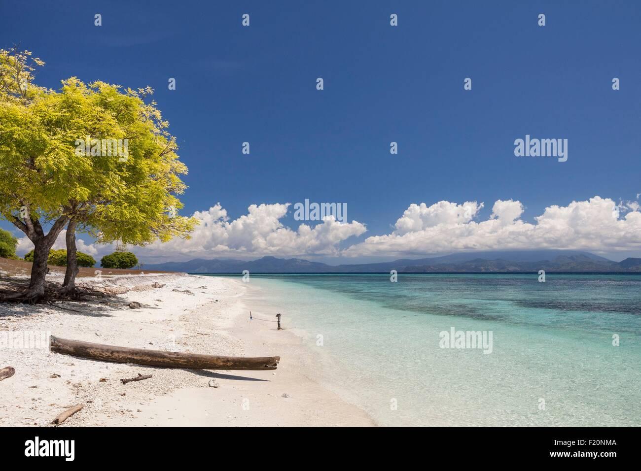 Indonesia, Lesser Sunda Islands, Alor archipelago, Kangge Island, beach - Stock Image