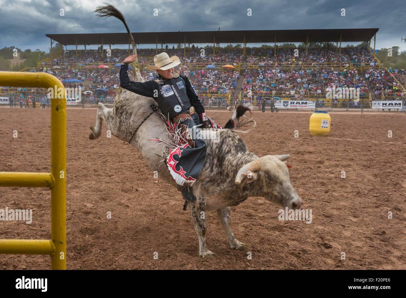 United States, Arizona, Window Rock, Festival Navajo Nation Fair, rodeo - Stock Image