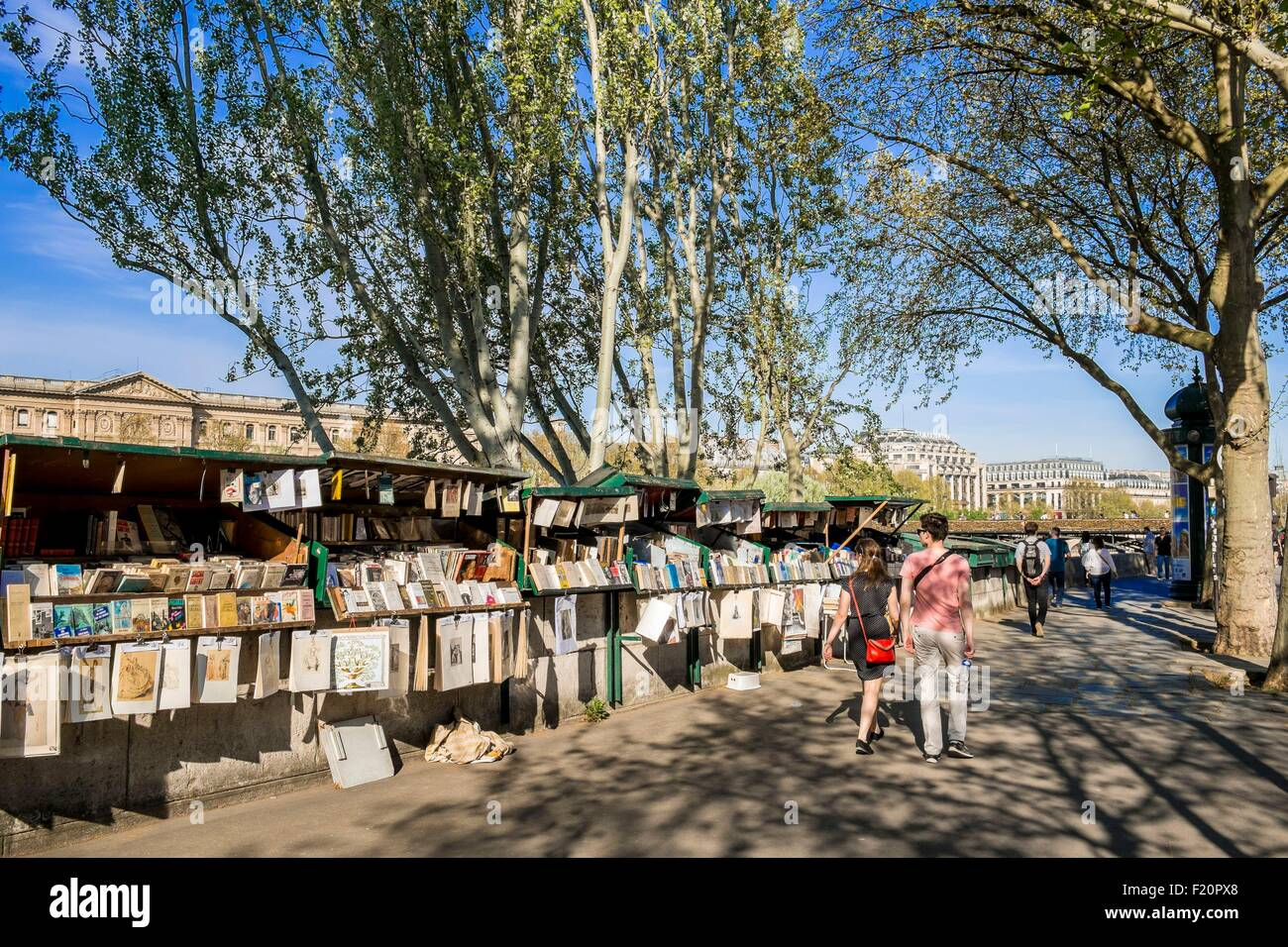 France, Paris, the booksellers of the Seine River - Stock Image