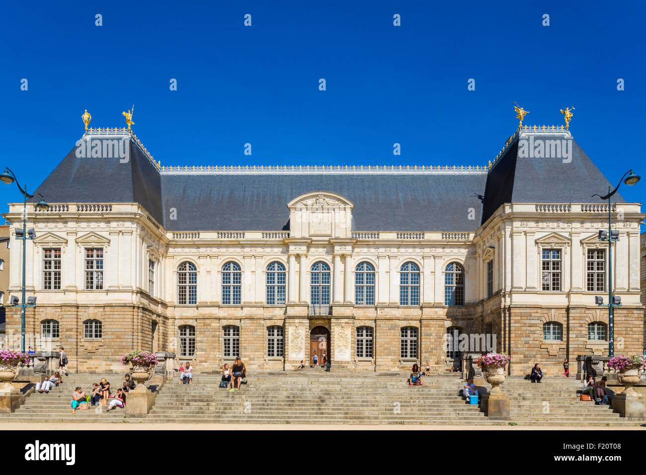 France, Ille et Vilaine, Rennes, Brittany Palace of Parliament (17th century) designed by architects Germain Gaultier - Stock Image