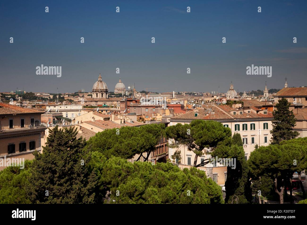 Italy, Latium, Rome, Historical Centre listed as World Heritage by UNESCO, Aracoeli, view from the top of the stairs - Stock Image