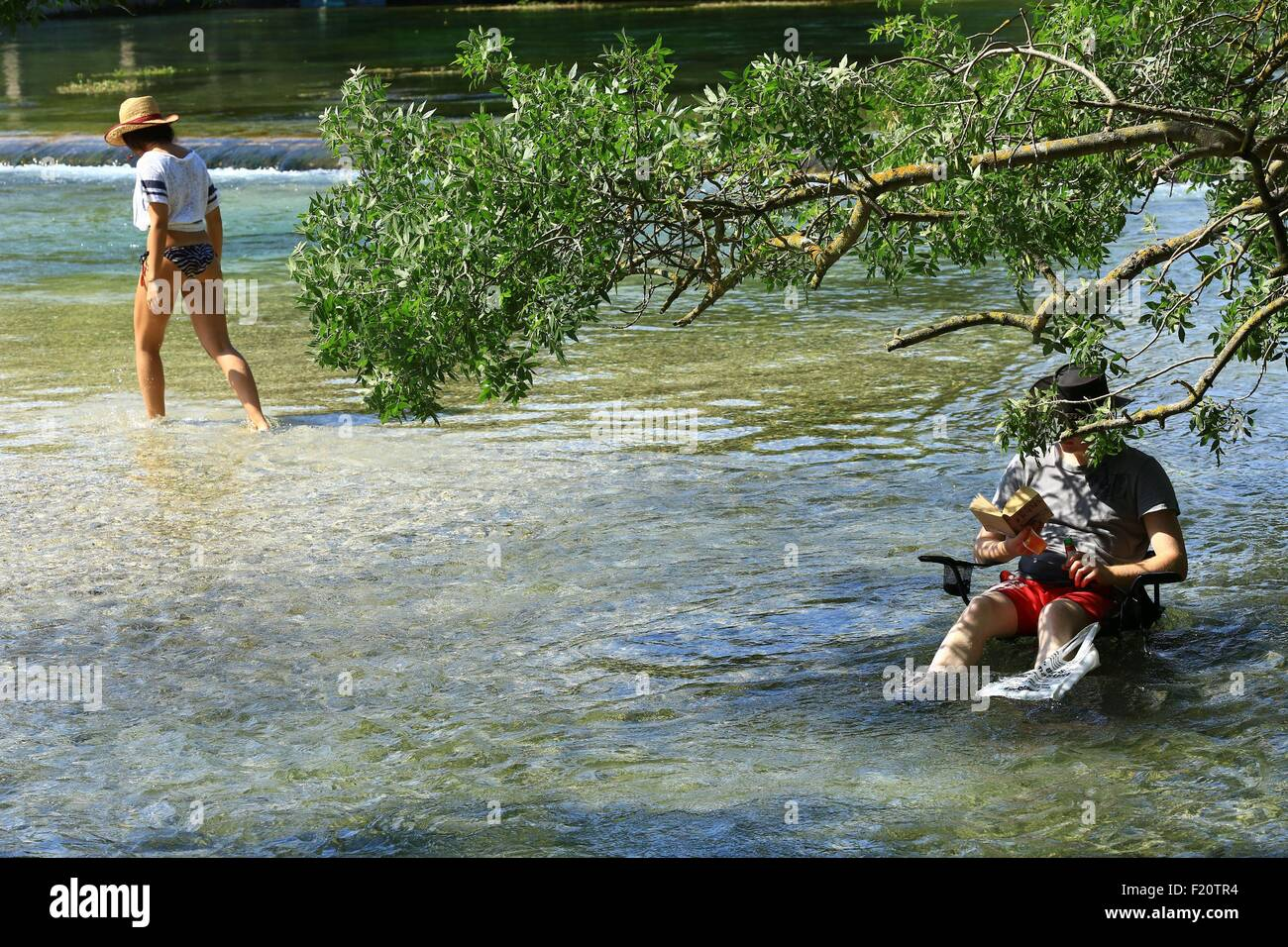 France, Vaucluse, L'Isle sur la Sorgue, the watershed - Stock Image