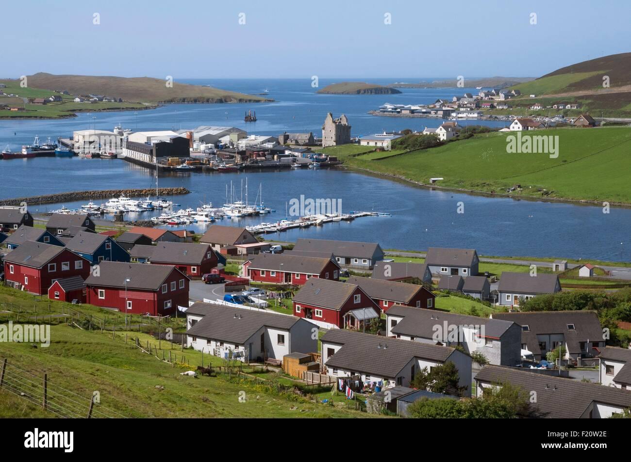 United Kingdom, Scotland, Shetland islands, Central Mainland, Scalloway old capital - Stock Image