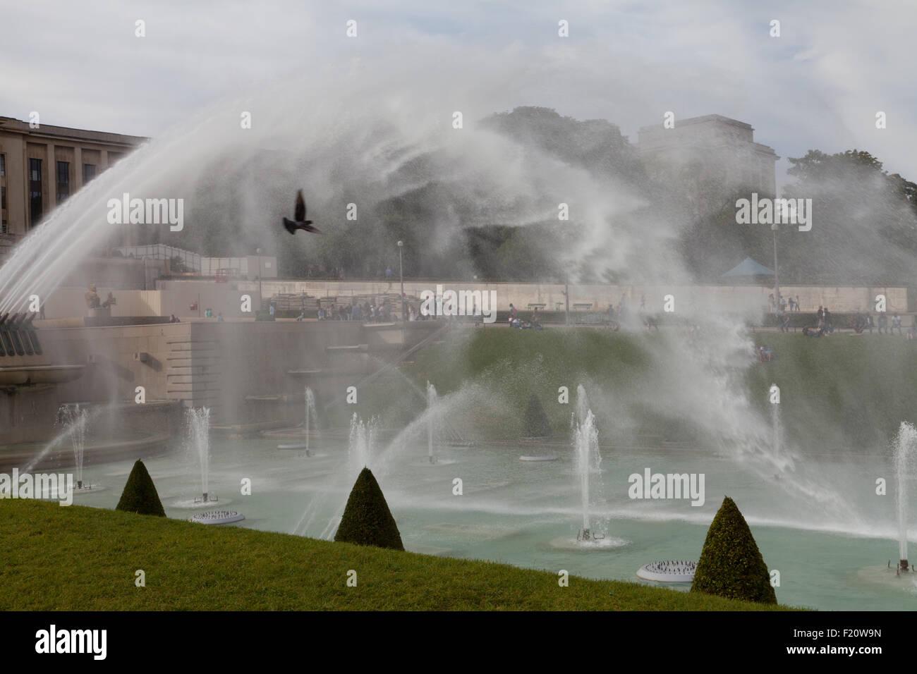 Place du Trocadero, Paris, France. - Stock Image