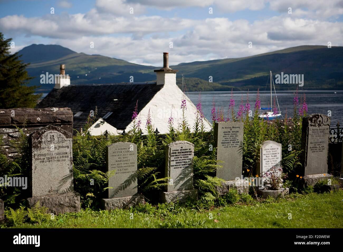 United Kingdom, Scotland, Highland, Luss, cemetery - Stock Image