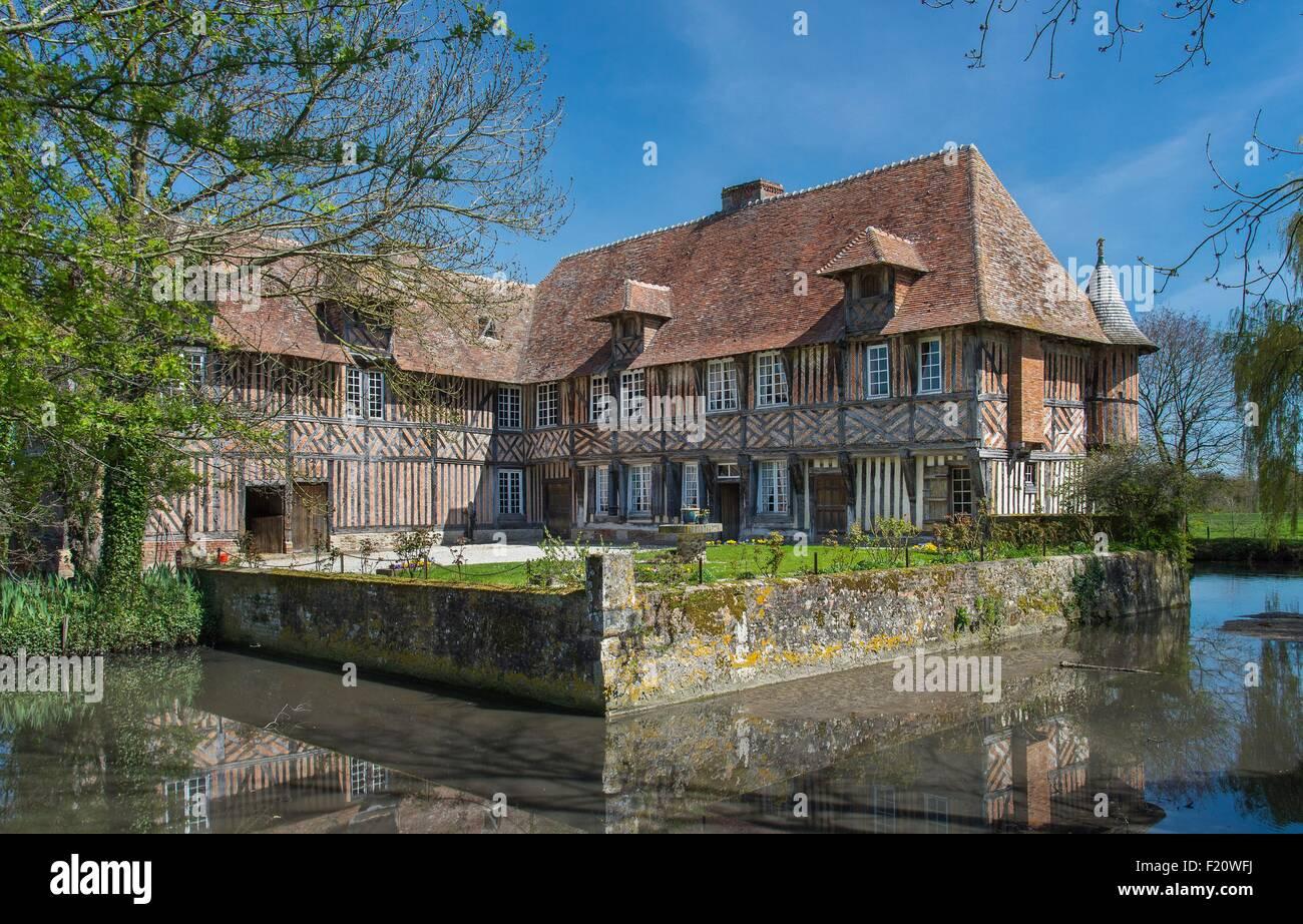 France, Calvados, Coupesarte, sixteenth century manor house - Stock Image