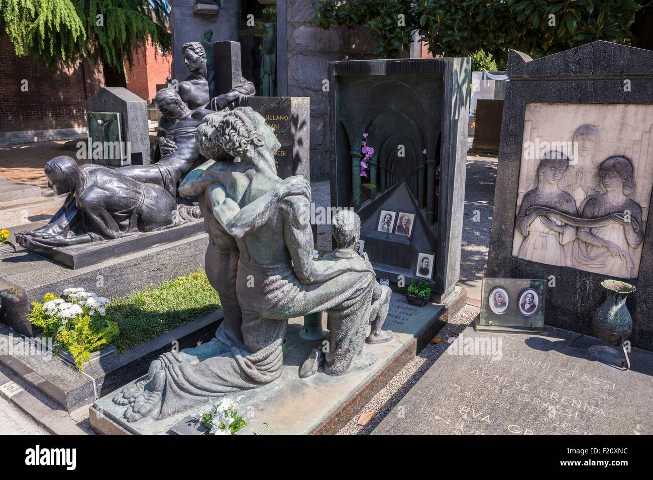 Italy, Lombardy, Milan, the monumental cemetery - Stock Image
