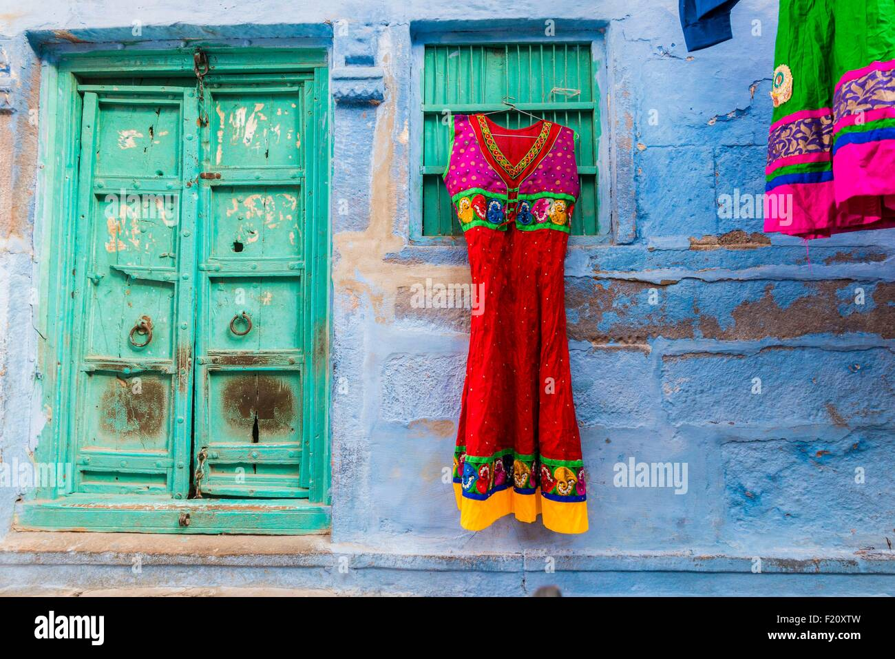 India, Rajasthan state, Jodhpur, the blue city - Stock Image