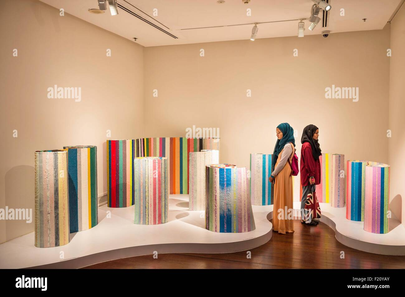 Singapore, Singapore Art Museum, Untitle by Mit Jai Inn - Stock Image