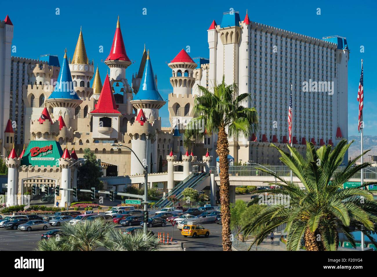 United States, Nevada, Las Vegas, the Strip, Excalibur hotel and casino - Stock Image