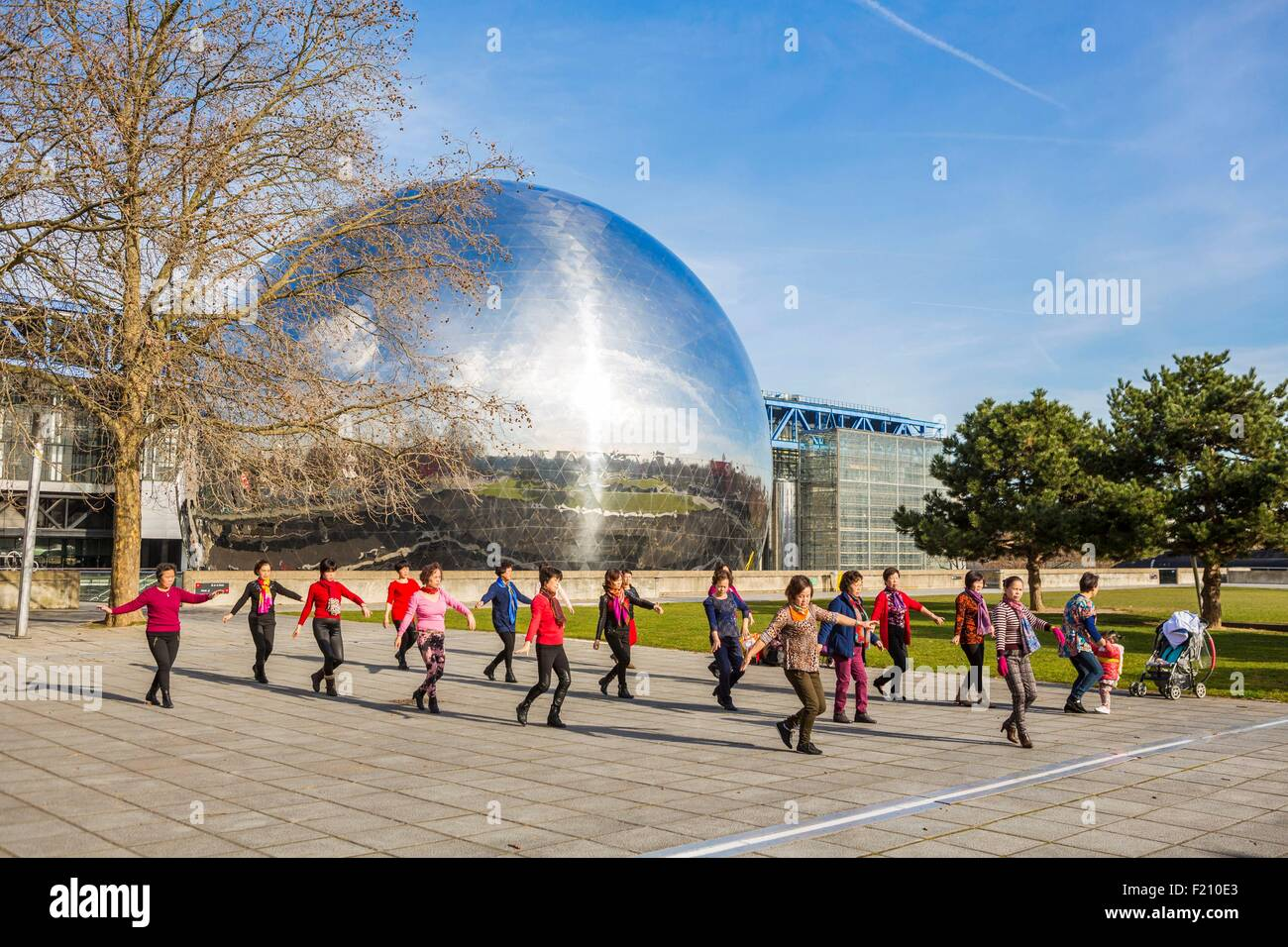 France, Paris, the dome of the Geode, Tai-shi - Stock Image