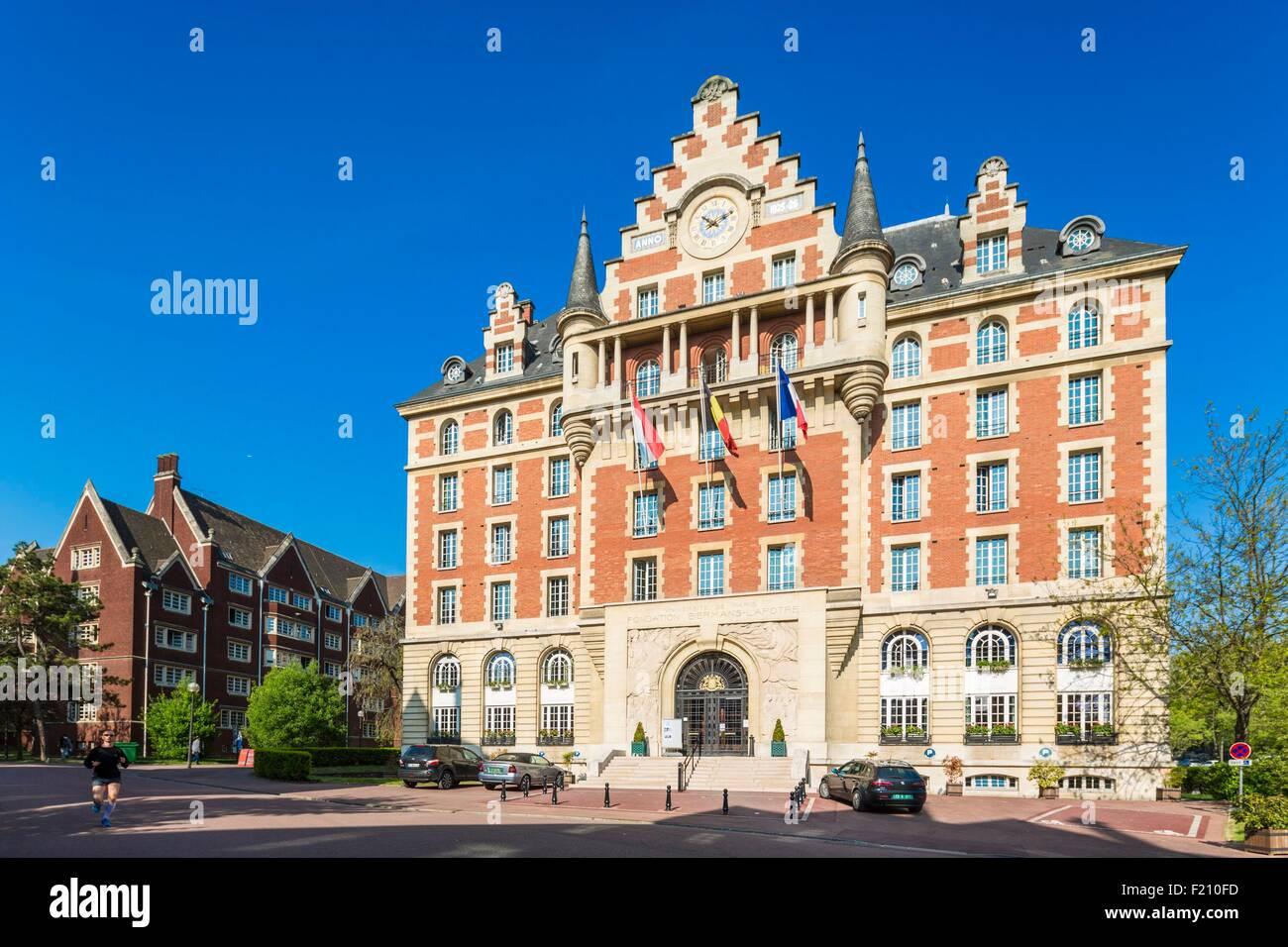 France, Paris, the University City, Biermans-Lapotre Foundation - Stock Image