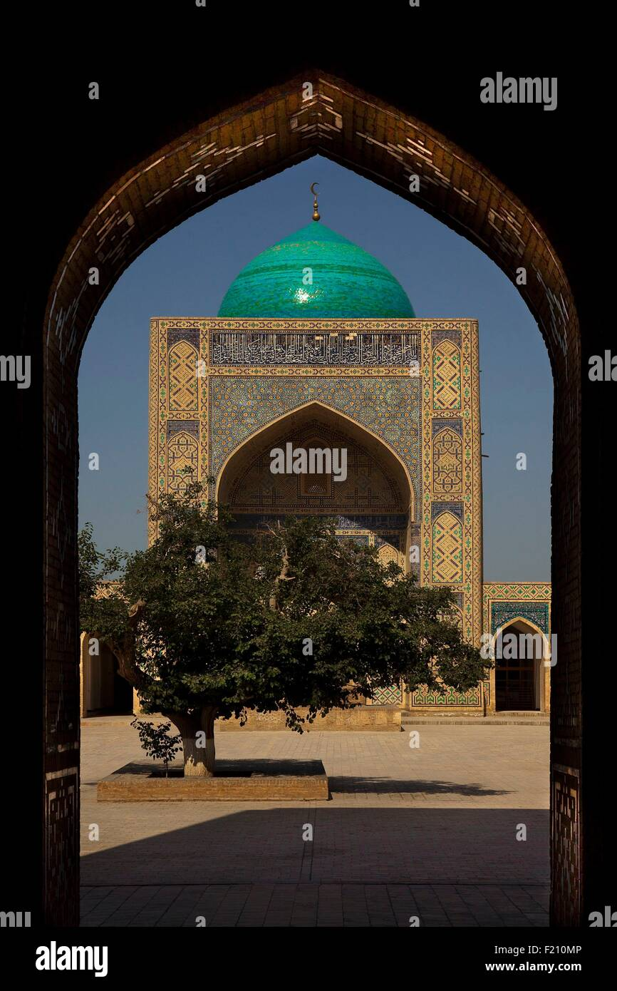 Uzbekistan, Bukhara, Miri Arab Madrassah, listed as World Heritage by UNESCO - Stock Image