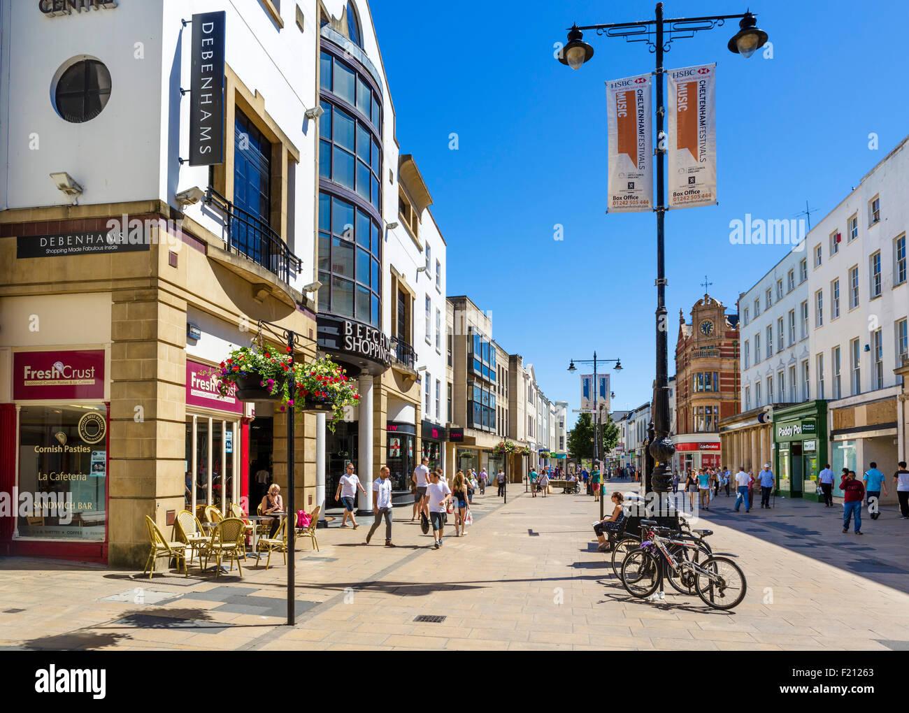 The High Street, Cheltenham, Gloucestershire, England, UK - Stock Image
