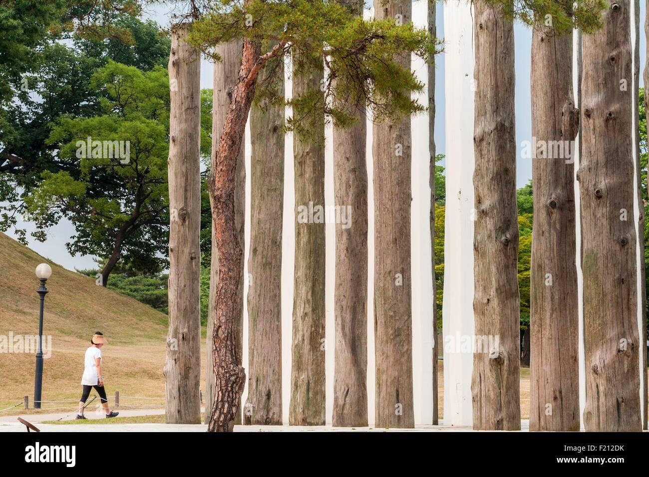 South Korea, Seoul, Songpa-gu, Olympic Park (Olpark), Olympic park built for the 1988 Olympic Games - Stock Image