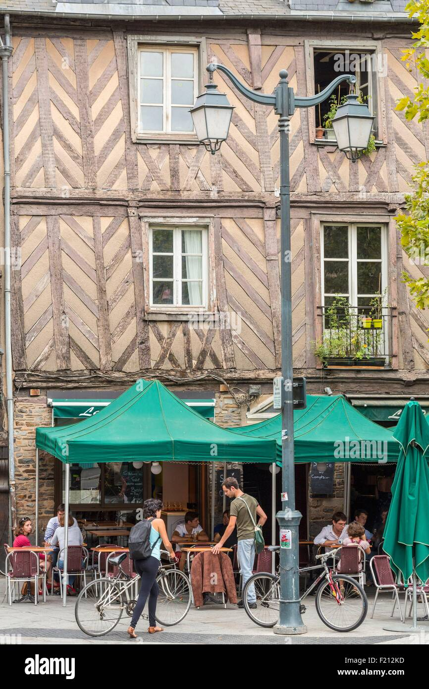 France, Ille Et Vilaine, Rennes, Historic District, Place Saint Anne  Timbered House