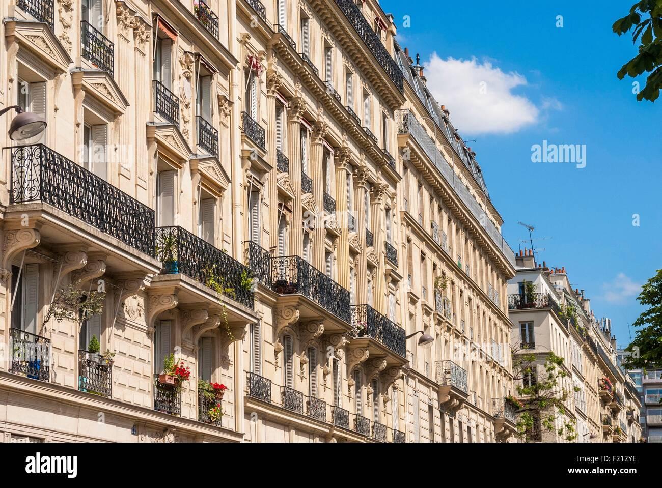 France, Paris, 17th arrondissement, Batignolles, building ...