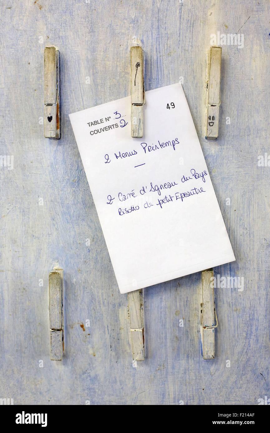 France, Vaucluse, Monieux, restaurant Lavenders, Chief Emmanuel Lopez - Stock Image