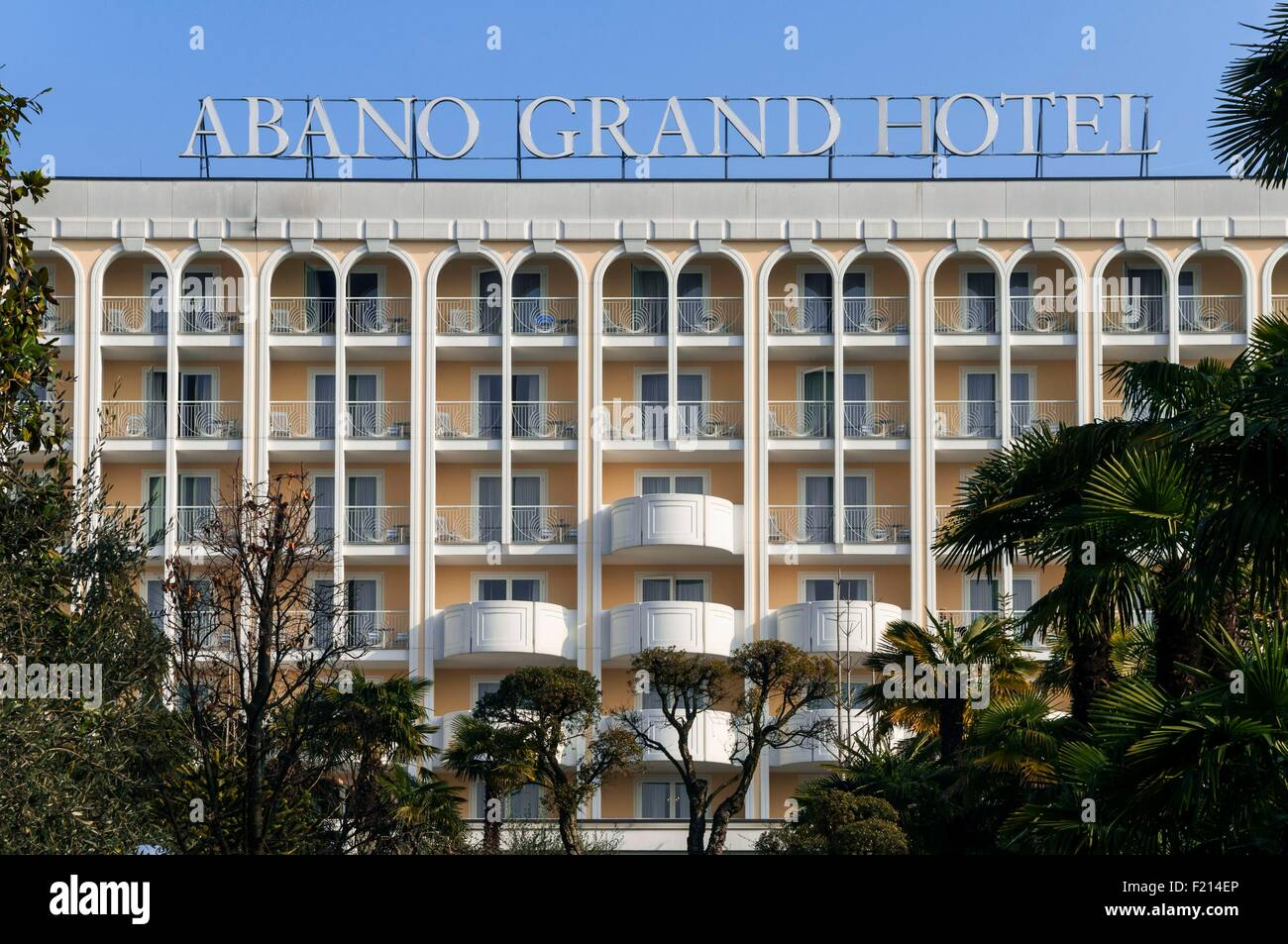Italy Veneto Abano Terme Abano Grand Hotel Stock Photo