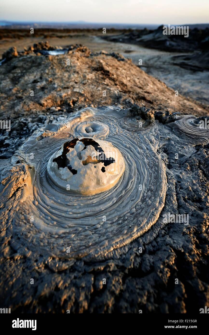 Azerbaijan, Qobustan, mud volcano Stock Photo