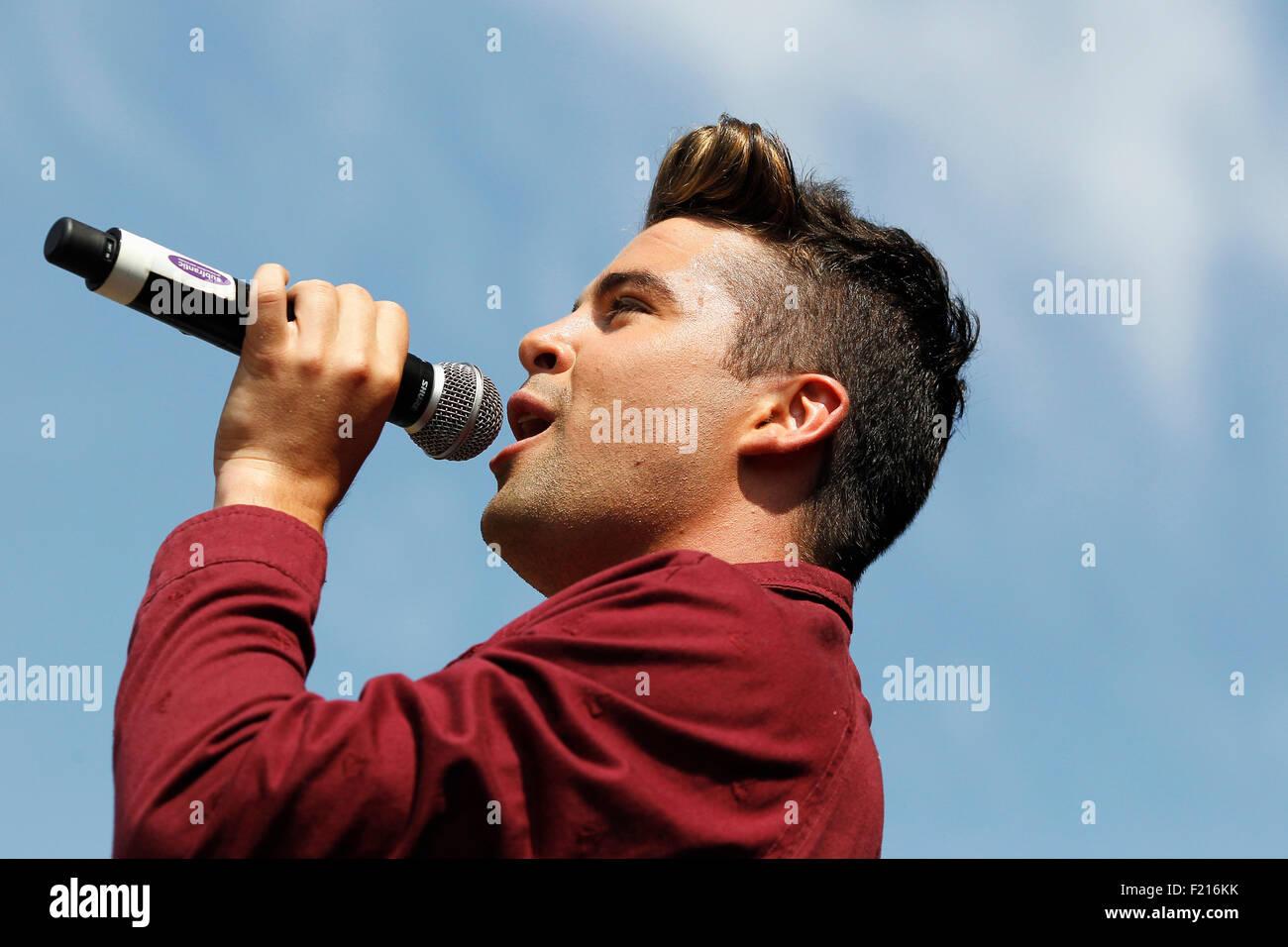 Entertainment, Music, Singer, Joe McElderry former X Factor winner. - Stock Image