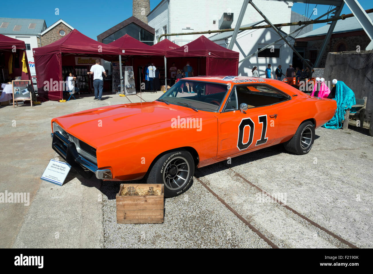 A 1969 Dodge Charger,  replica of the car used in the hit TV series ' The Dukes of Hazzard ' - Stock Image
