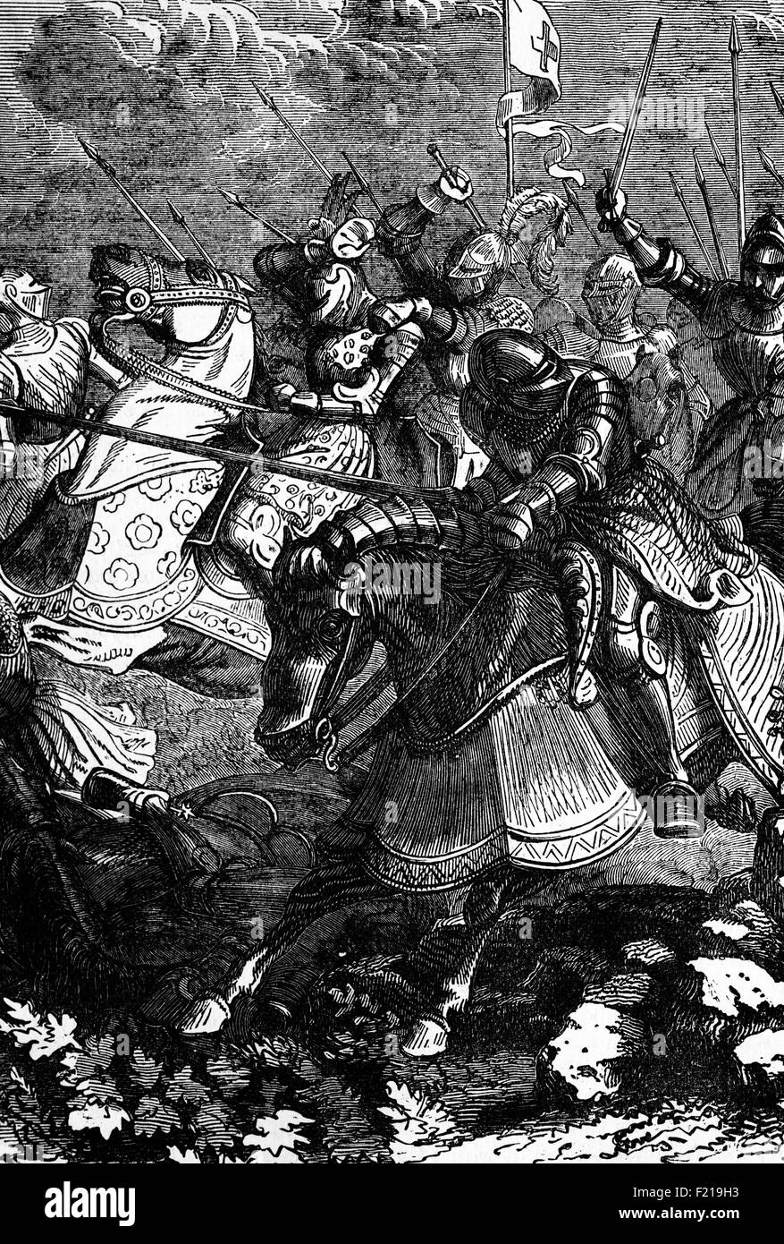 The Battle of Guinegate or Battle of the Spurs,part of the Holy League under the Italian Wars took place in France - Stock Image
