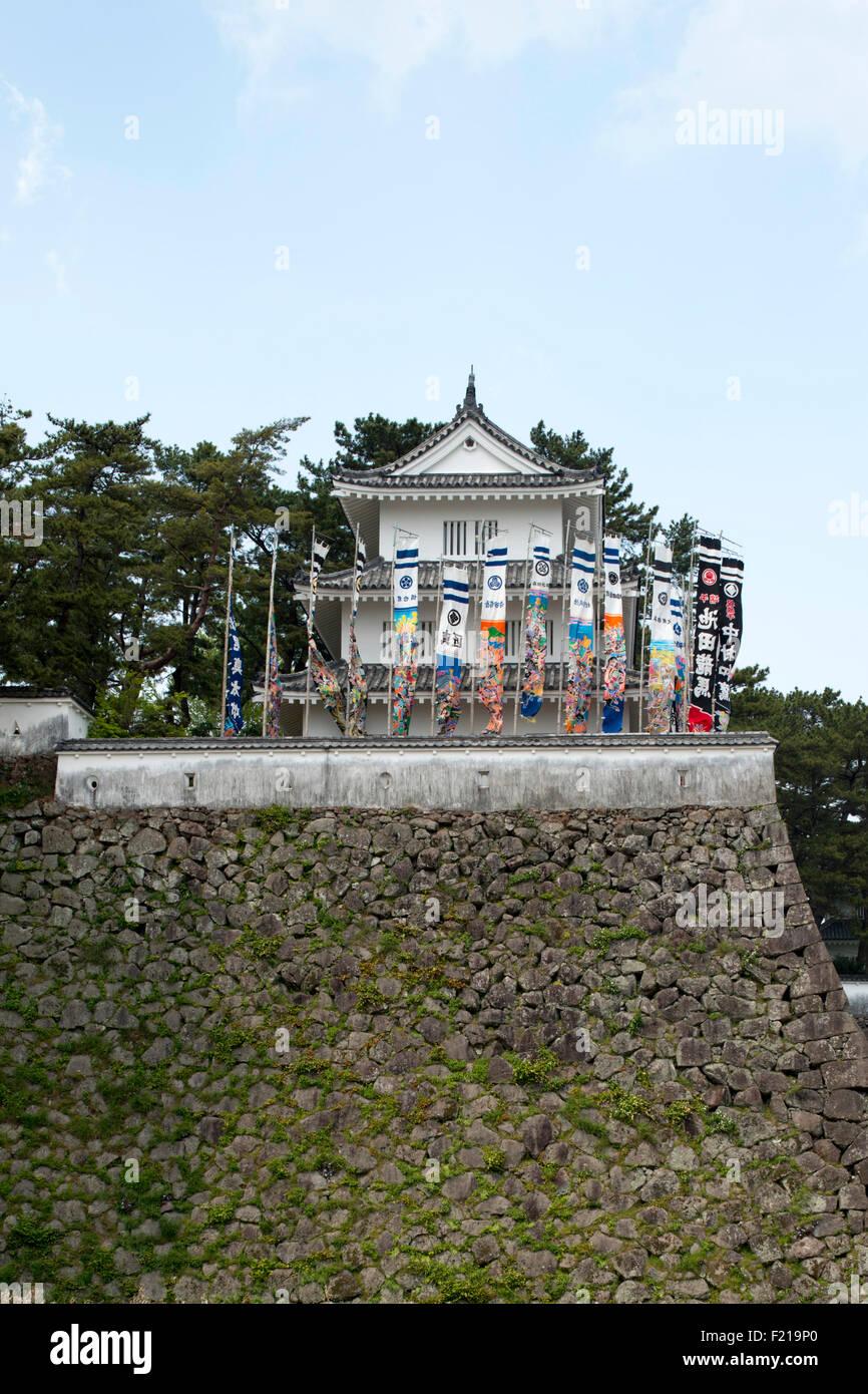 Shimabara Castle, Kyushu - Stock Image