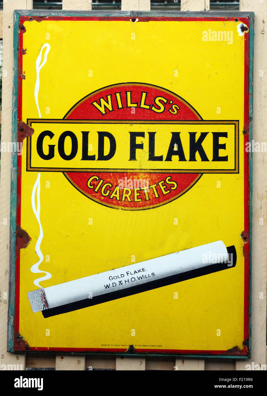 Wills Gold flake poster - Stock Image