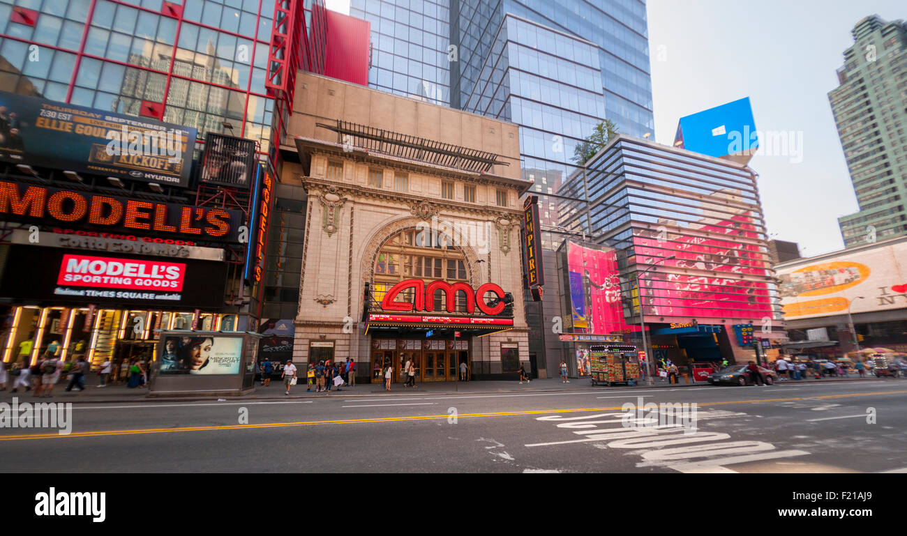 The AMC 25 Theatre in Times Square in New York on Monday, September 7, 2015. The summer of 2015 was the second biggest Stock Photo