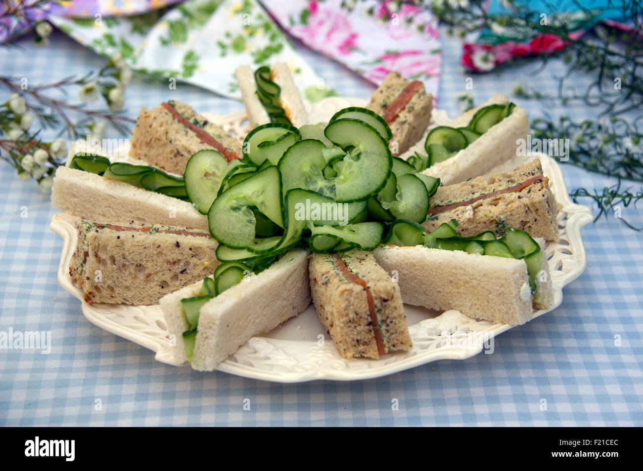 A selection of sandwiches cut into fingers a uk bread finger a selection of sandwiches cut into fingers a uk bread finger foods snacks snack nibble nibbles cucumber forumfinder Image collections