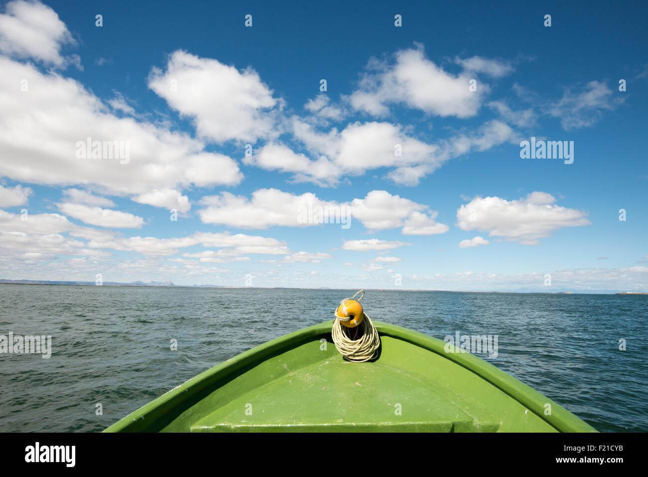 Mexico. San Ignacio Lagoon. Landscape of water from boat. - Stock Image