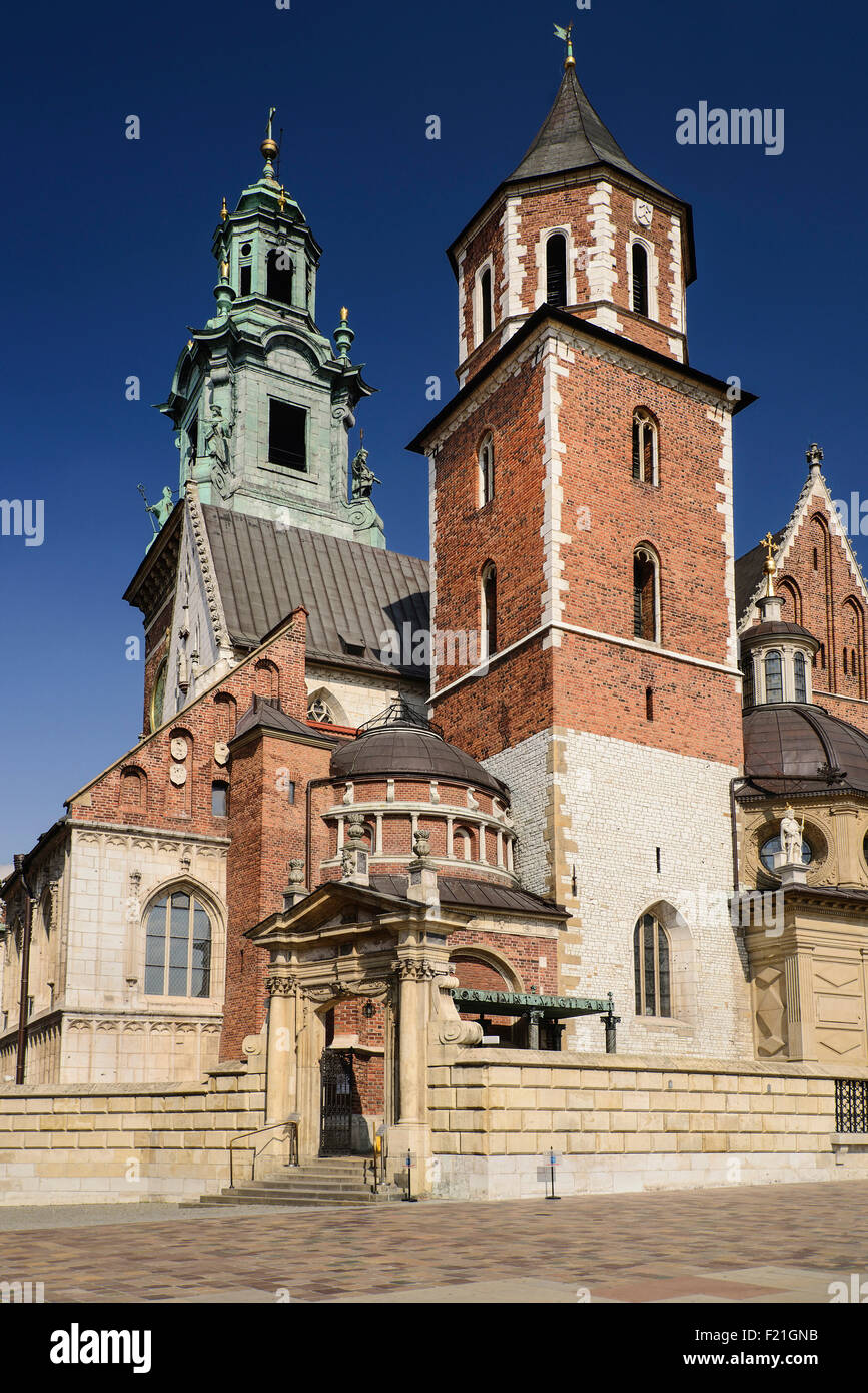 Poland, Krakow, Wawel Hill, Wawel Cathedral. - Stock Image