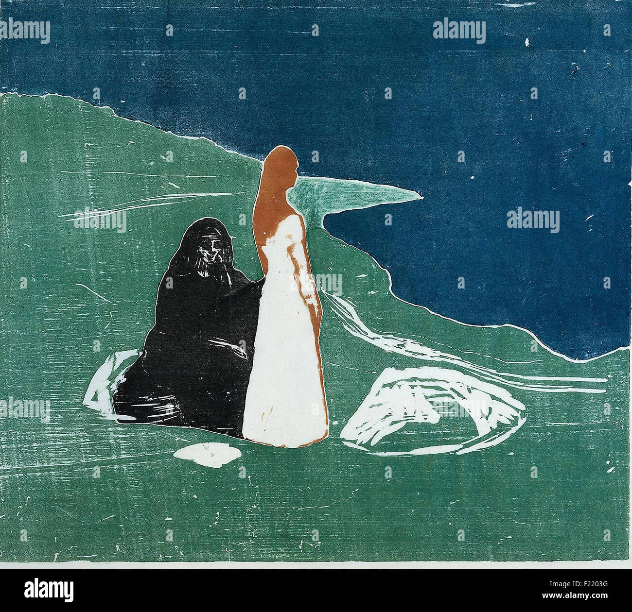 Edvard Munch - Women on the Beach - Stock Image