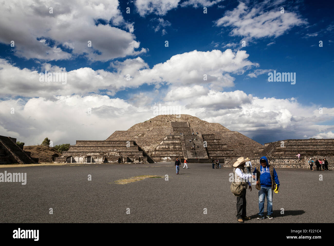 Pyramid of the Moon Teotihuacan archaeological site Unesco World Heritage Site Mexico America - Stock Image