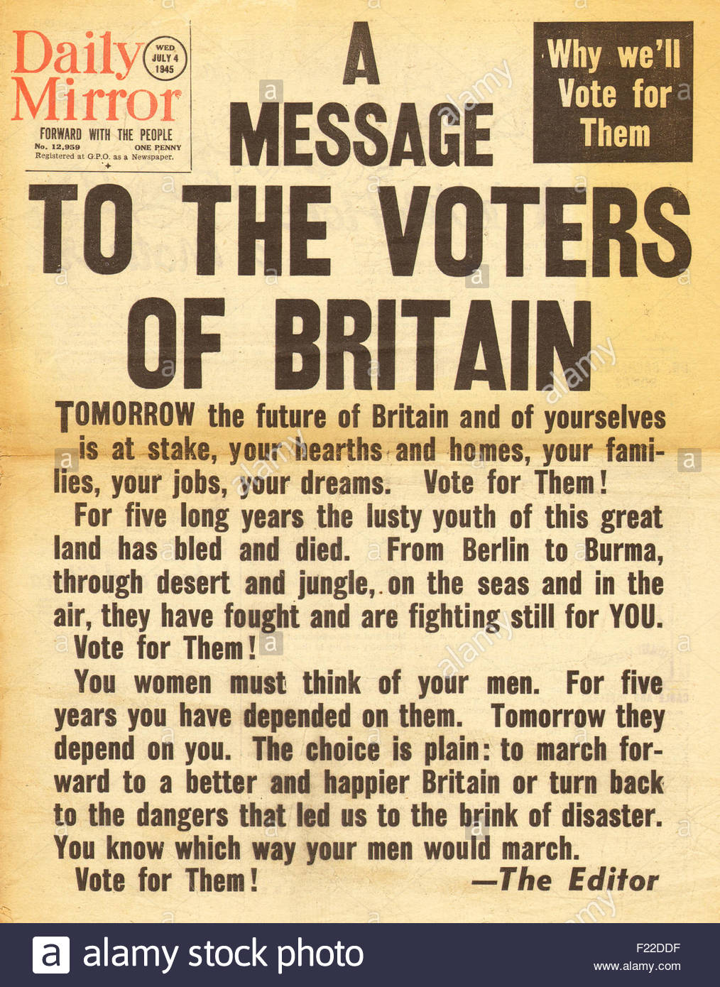 the general election of 1945 essay The northern ireland general election, 1945 was held on 14 june 1945 the election saw significant losses for the ulster unionist party,.