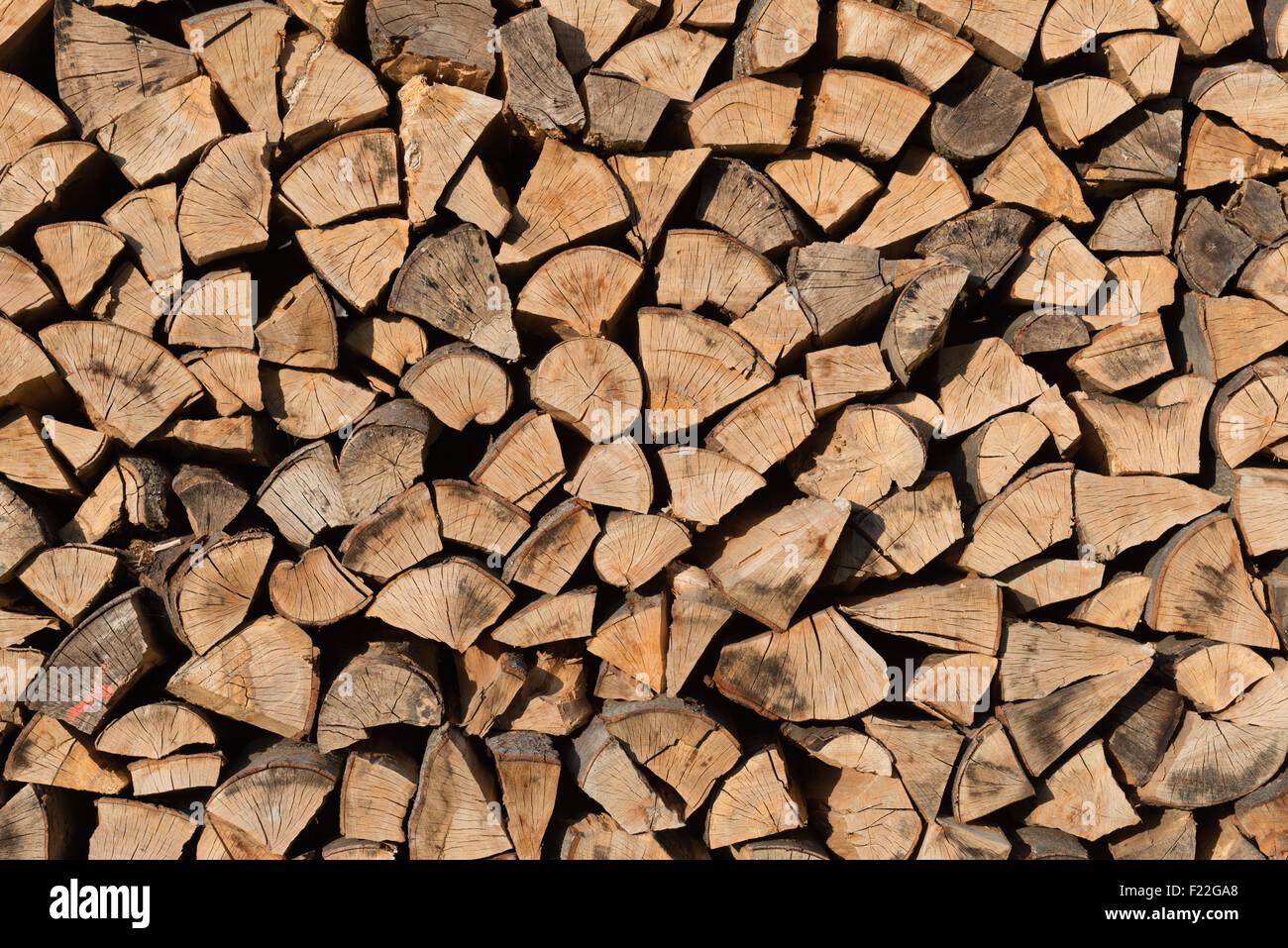 Brennholzstapel - Stock Image