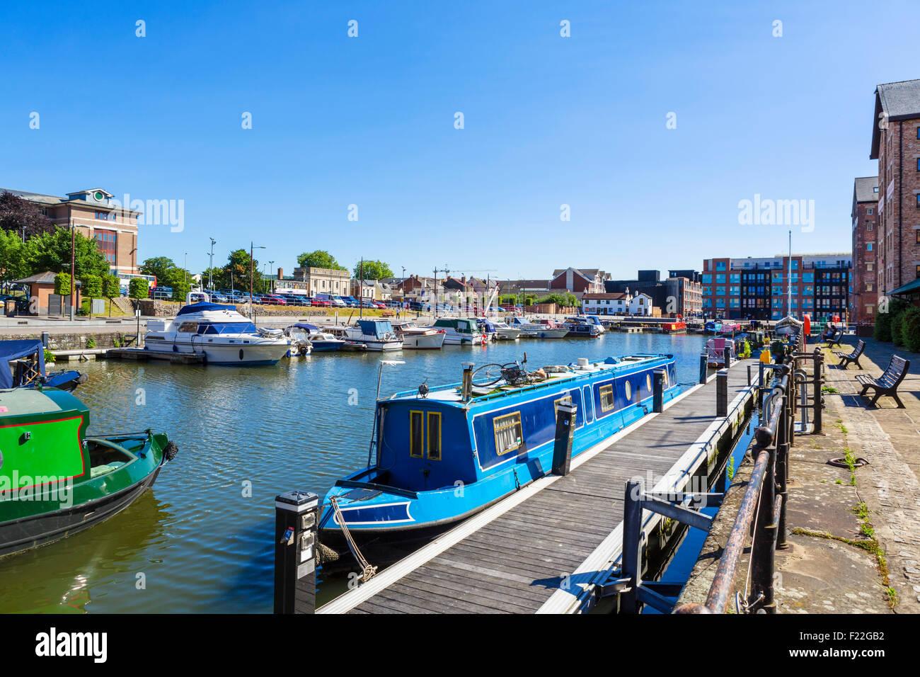 The docks, Gloucester, Gloucestershire, England, UK - Stock Image