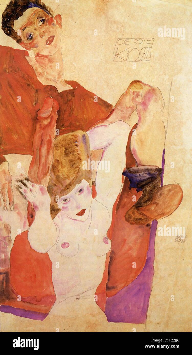 Egon Schiele - Die Rote Hostie - Stock Image