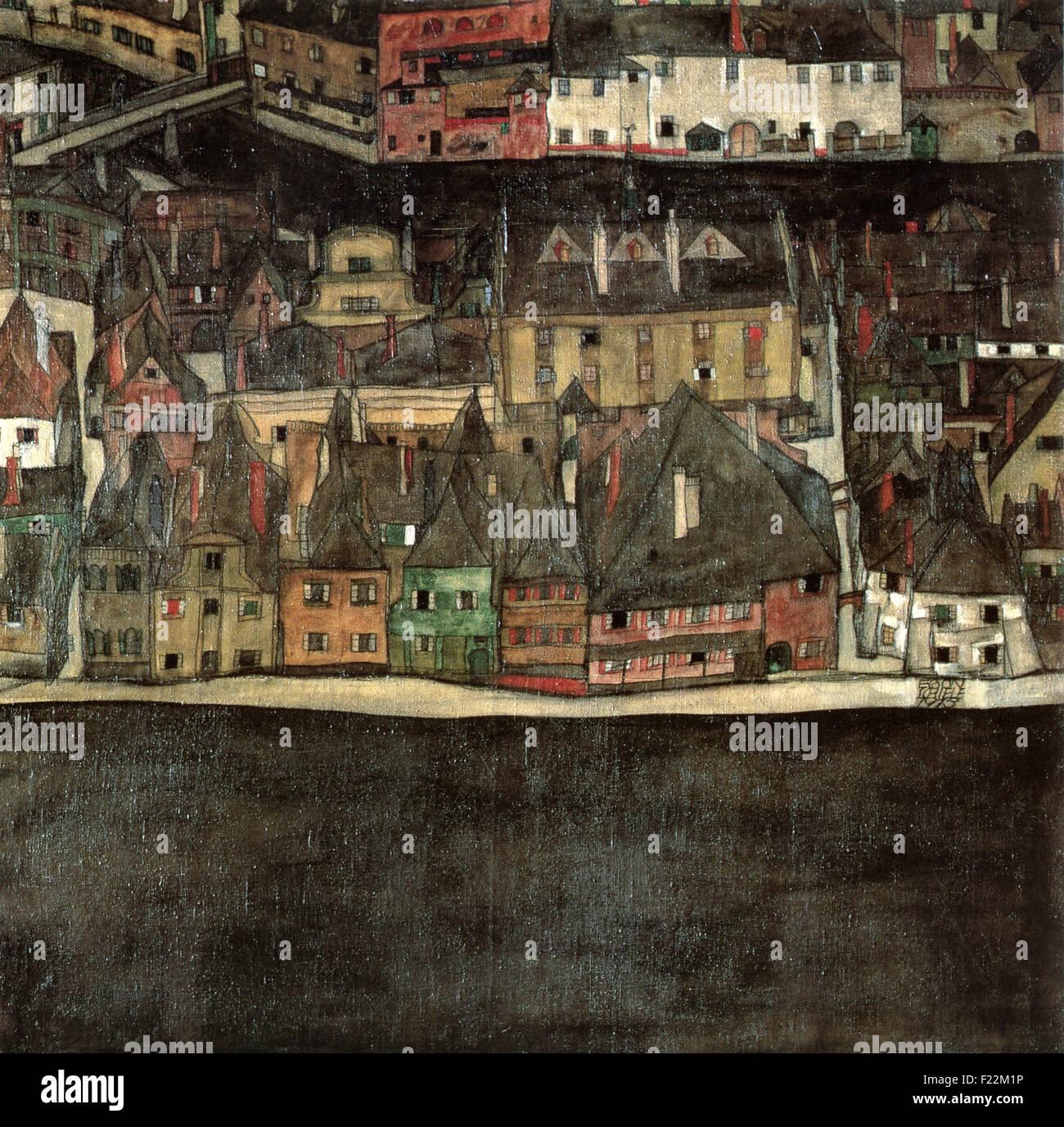 Egon Schiele - Die Kleine Stadt II - Stock Image