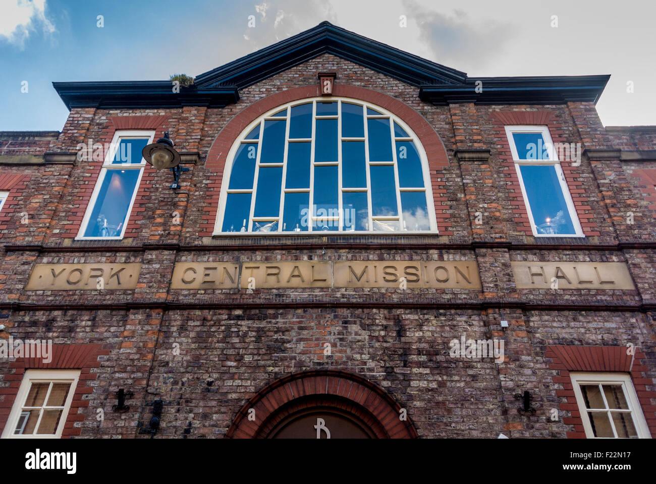 York Central Mission Hall building - Biltmore bar and restaurant - Stock Image