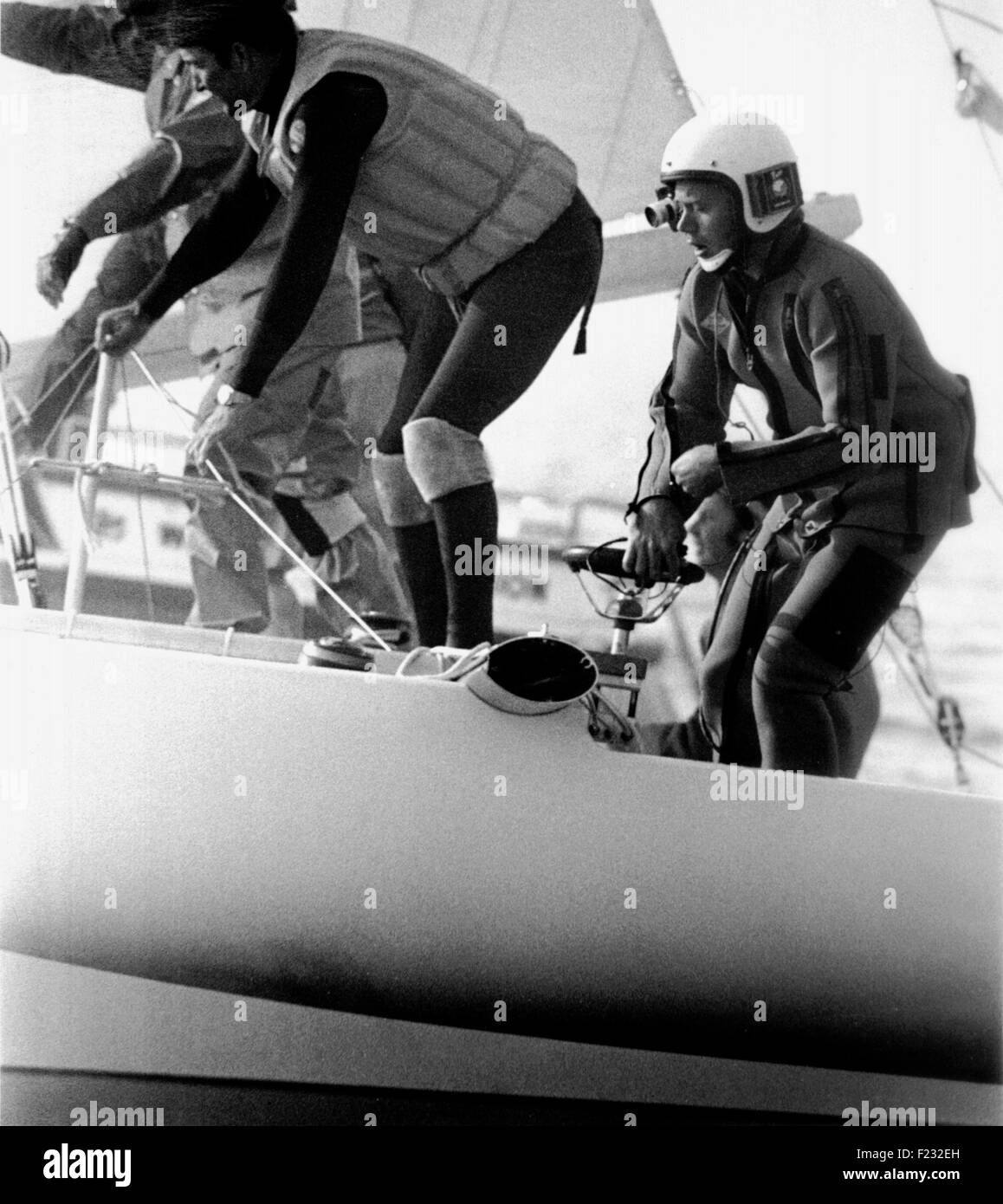 AJAX NEWS PHOTOS - 13TH OCT, 1978. WEYMOUTH,ENGLAND.  - SPEED WEEK - AMERICAN SAILING SPEED CATAMARAN SLINGSHOT - Stock Image