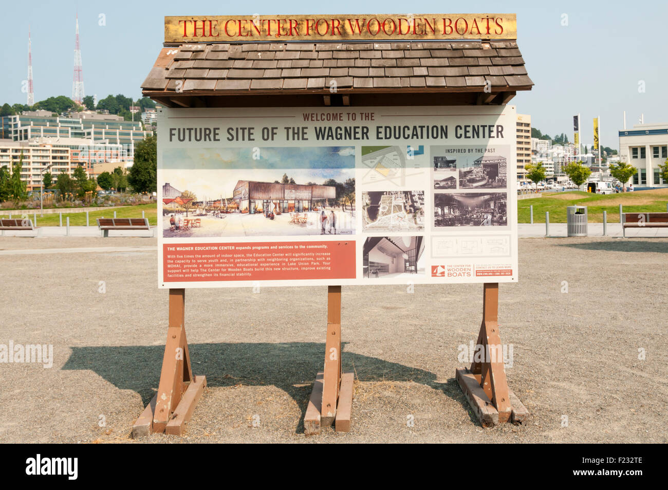 Details at The Center for Wooden Boats on South Lake Union in Seattle concerning the development of the Wagner Education - Stock Image